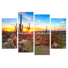Североамериканская картина пейзажа пустыни / Ботанический кактус Печать изображения на холсте / Home Decor Decor Artwork