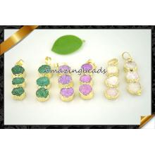Prix d'usine Nouvelle fabrication de collier de pendentifs Druzy de couleur mixte (EF0118)