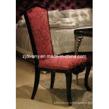Estilo neo-clássico de madeira tecido assento cadeira de jantar (LS-310A)