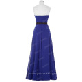 Starzz Strapless Off Shoulder Long Royal blue Simply Chiffon Bridesmaid Dress ST000066-5