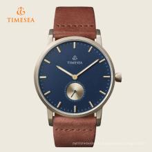 Relógio de homens 72248 de quartzo da correia de couro do relógio de pulso do tipo de Timesea