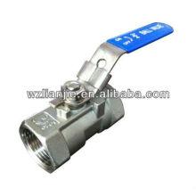 """3/4"""" 1PC 316 robinets à tournant sphérique FNPT visser les extrémités avec dispositif de verrouillage"""