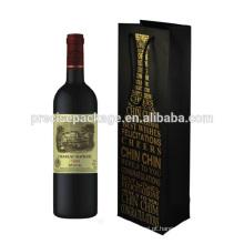 Sacos de garrafa de vinho de papel único papel reutilizável