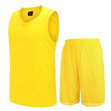 Pas cher prix de haute qualité basket uniforme fit sec maille blanc jersey basket