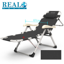 Good quality portable adjustable single metal folding reclining chair for sale