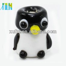 2018 nuevo estilo mini vidrio gordo pequeño pingüino cuentas de gran agujero