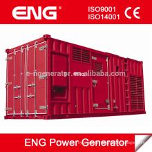 Generador de poder 1000kw con motor diesel CUMMINS tipo silencioso / insonoro del envase