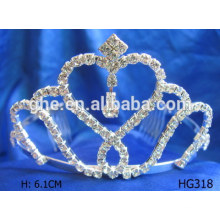 Buena fábrica de servicio directamente anillos corona en forma de tiara