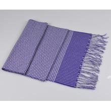 Lenço de xadrez em lã e cachecol H16-