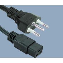 Wtyczka Brazylii do przewodu zasilającego IEC C19