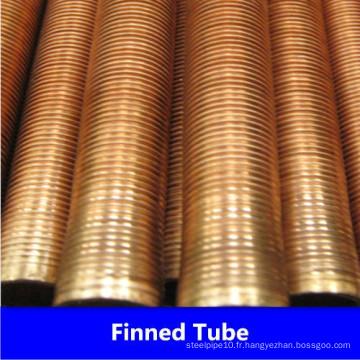 Tube à ailettes basses en cuivre C10200 C12200 de l'usine de Chine