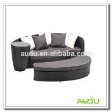 Audu Green Resin Wicker Outdoor Waterproof Daybed