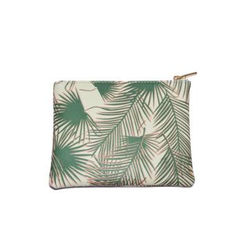 BSCI Bag Supplier Senhora Folha Imprimir PU Cluch Bag Zxc169