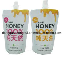 Stehen Sie heraus Auslauf-Beutel für Honig- / Gelee-Auslauf-Beutel / flüssige Verpackungs-Beutel