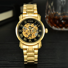 oem winner skeleton automatic mechanical man watch
