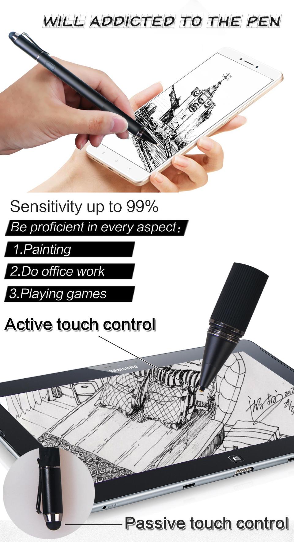 stylus gel ink pen