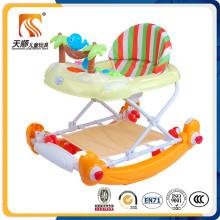 Nuevo modelo nuevo PP Poly Propylene Baby Walker con eje de balancín