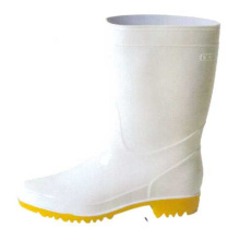 White Men's Oil Resistant Pvc Boots