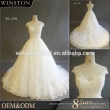 Heiße Verkaufs-Fabrik-kundenspezifische Kappenhülsen reales Hochzeitskleid