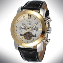 Wrist Alloy Case watch tourbillon leather Watch