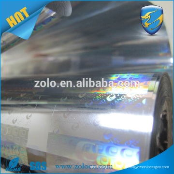 customize Cheap price transparent overlay 3D hologram PET film with custom printing