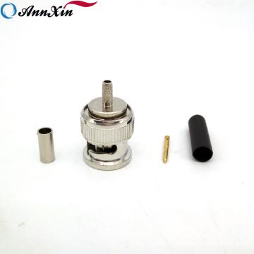 Conector macho de BNC de la encrespadura del conector macho BNC de la alta calidad al por mayor para el cable RG179