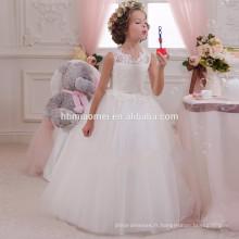 2016 ins vente chaude conception couleur blanche lacée desgin fille robe pour le mariage