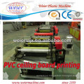 Color printing for PVC ceiling board machine