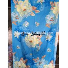 Produit en gros 100% polyester impression de pigment unie brossé drap de lit matelas tissu