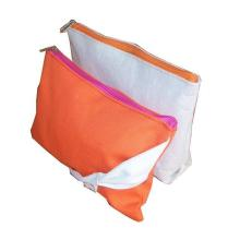 Orange cotton zipper bag bow for purse