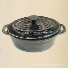 Highlight Oval Enamel Cast Iron Casserole Size 29X21cm