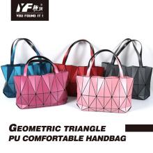 Luminous folding geometric tote bag for women