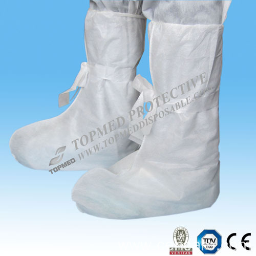 Disposable PP/SMS Nonwoven Boot Cover with Tie on