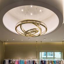 Modern Customizable Ring Design Banquet Crystal Pendant Lamp