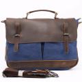 Wholesale Factories Canvas Handbags For Man Genuine Leather Messenger Bags