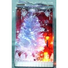Горячая! мигающий белый волоконно-оптические Рождественская деревья самшита питания