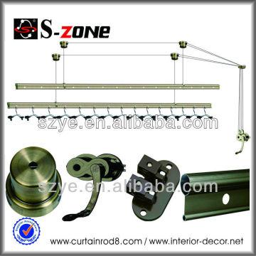 SZ12-10 aluminum adjustable round lifting clothes drying rack plus 15hangers