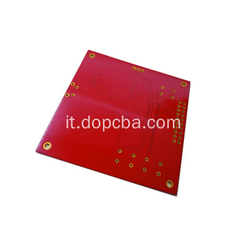 Scheda PCB ENIG Single Sided PCB rossa