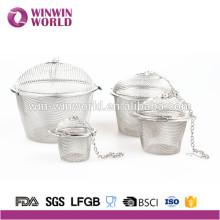 De Bonne Qualité Filtre à manches de thé d'acier inoxydable pour des tasses, des tasses et des théières de thé de grain de feuille en vrac