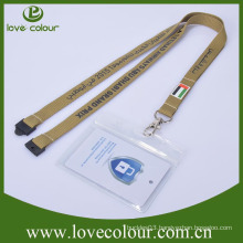PVC horizontal transparent id card holder with lanyards