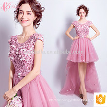 Guangzhou-Fabrik-koreanische Damen-zwei Stück-Blumen-Chiffon- Marineabend-Kleider