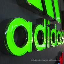 New design letters  3d led letter light sign board outdoor acrylic sign 3d front sign led channel letter