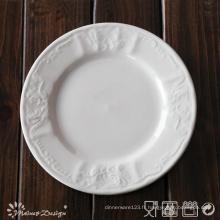 Porcelaine blanche en relief avec plaque latérale design classique