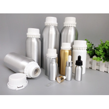 Alumínio garrafa de óleo essencial com tampa de plástico branco adulteração