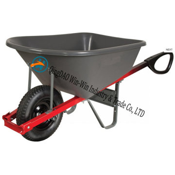 Total Control 6 Cubic Foot Steel Wheelbarrow with