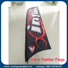 Anpassade 13ft Feather Concave Flags