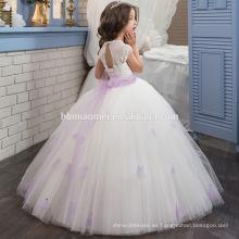 El vestido de boda más popular de Princesa Tulle Lace vestido de cumpleaños para niña