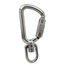Gancho de segurança de alumínio de 8kN giratório de ferramenta