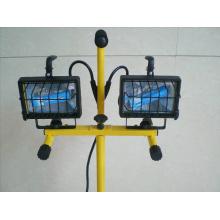 Рабочая лампа с двумя головками для ламп накаливания мощностью 500 ватт 2-N-1