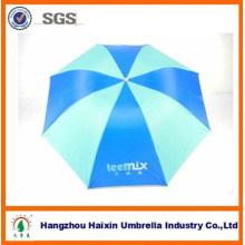 Mercado barato que anuncia 3 guarda-chuva barato de dobramento da chuva com o revestimento de prata para a promoção